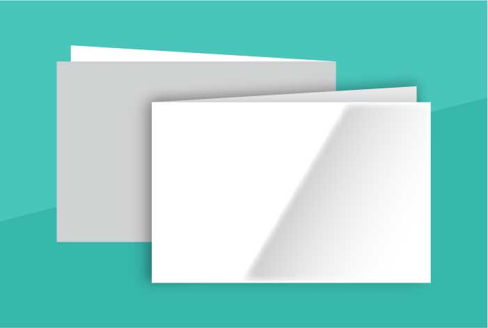 Gloss Coated Standard Double Sided Folded Business Card