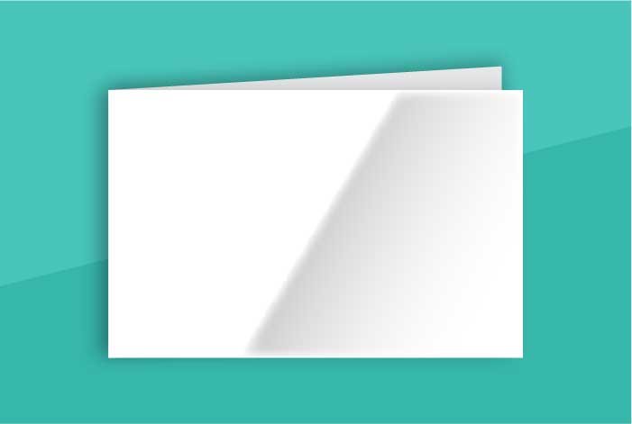 Gloss Coated Standard Single Sided Folded Business Card