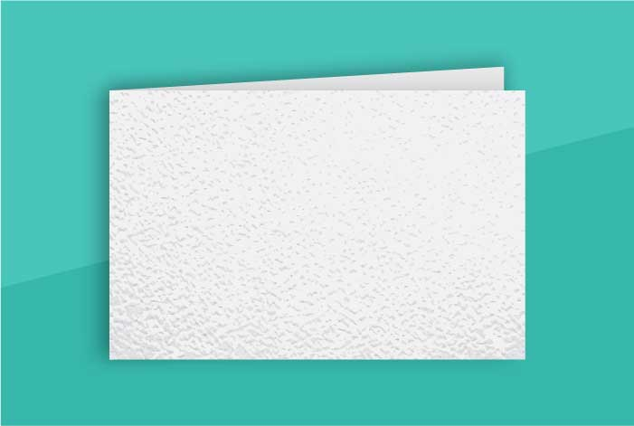 Matt Standard Single Sided Folded Business Card