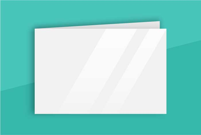 Matt Coated Standard Single Sided Folded Business Card