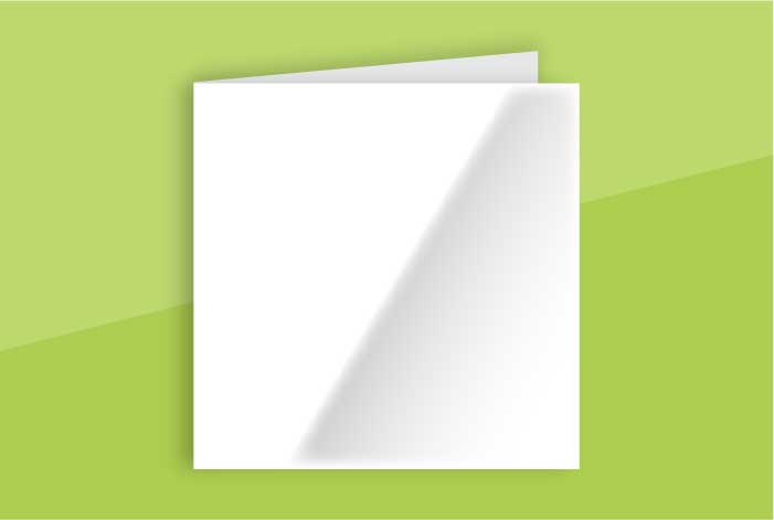 Gloss Coated Square Greeting Card