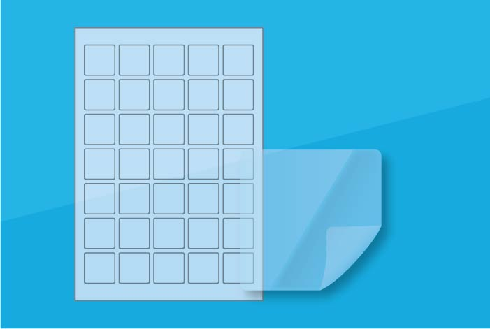 Clear Square Labels 35 x 35mm