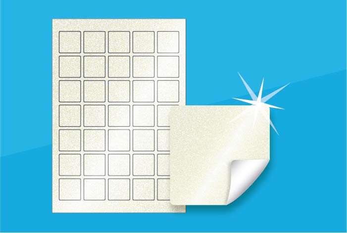Pearlised Square Labels 35 x 35mm