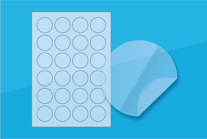Clear Round Labels 40 mm