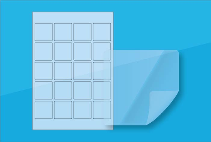 Clear Square Labels 45 x 45mm