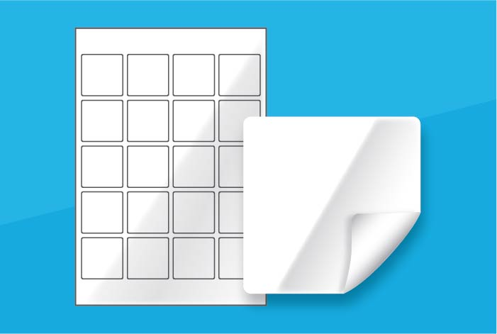 White Gloss Square Labels 45 x 45mm