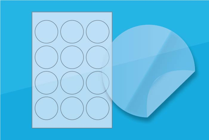 Clear Round Labels 60 mm